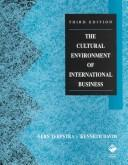 Download The cultural environment of international business