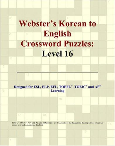 Download Webster's Korean to English Crossword Puzzles