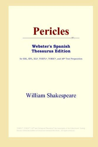 Download Pericles (Webster's Spanish Thesaurus Edition)