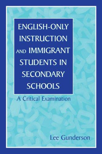 Download English-Only Instruction and Immigrant Students in Secondary Schools