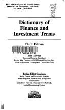Dictionary of finance and investment terms by Downes, John, John Downes